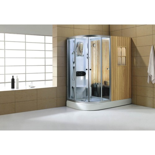 Sauna seca + sauna húmida con chuveiro de hidromassagem AS-001
