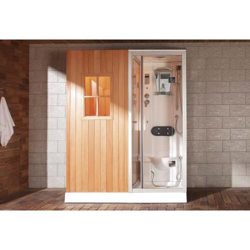 Sauna seca + sauna húmida con chuveiro de hidromassagem AS-002