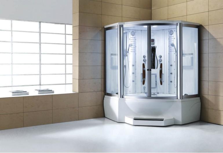 Cabina hidromasaje y bañera con sauna AT-010C