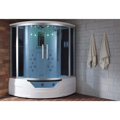 Cabine hidromassagem e banheira com sauna AT-012A