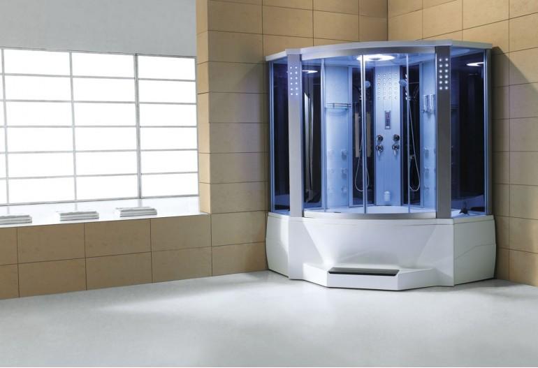 Cabine de hidromassagem e banheira com sauna AT-012C