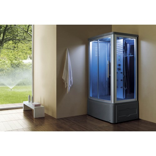 Cabine hidromassagem e banheira com sauna AT-014