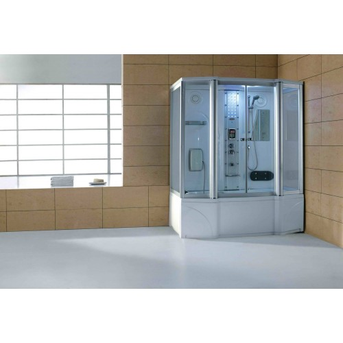 Cabine hidromassagem e banheira com sauna AT-016