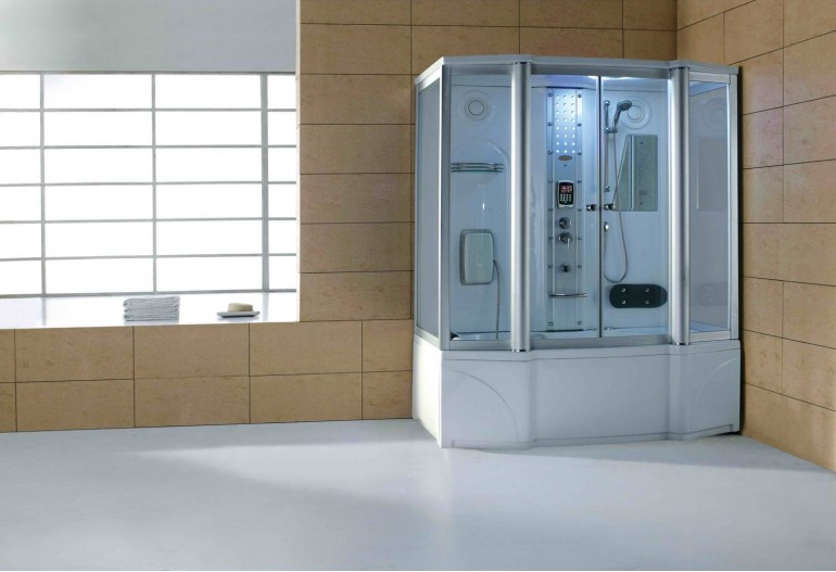 Cabina hidromasaje y bañera con sauna AT-016