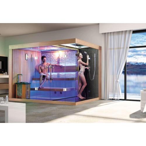 Sauna seca y sauna húmeda con ducha AT-002B