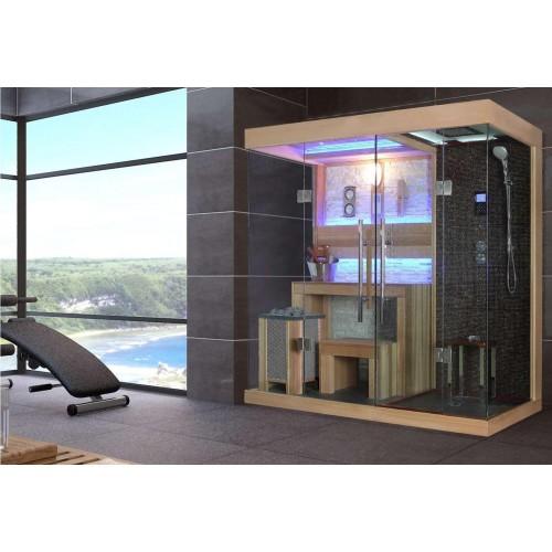 Sauna seca e sauna húmida com chuveiro AT-001C
