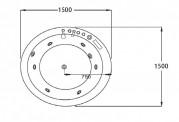 Bañera hidromasaje jacuzzi AT-024-1