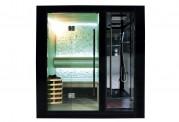 Sauna seca + sauna húmeda con ducha AU-001A