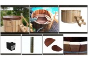 Ofuro japonês / Tina de madeira exterior AU-002A
