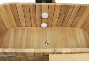 Ofuro japonês / Banheira de madeira exterior AU-001A