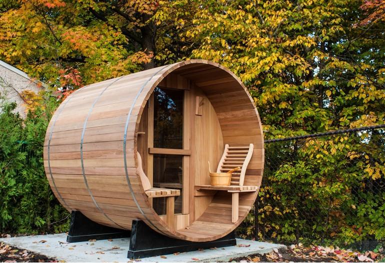 Sauna seca com forma de barril AF-002A